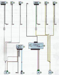 Схема указателей поворотов и аварийной сигнализации Лада Ларгус.