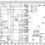 Схема приборов и системы блокировки движения автобуса ЛиАЗ-529222.