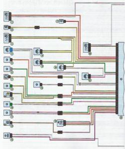 Схема системы управления двигателем K4M Лада Ларгус.