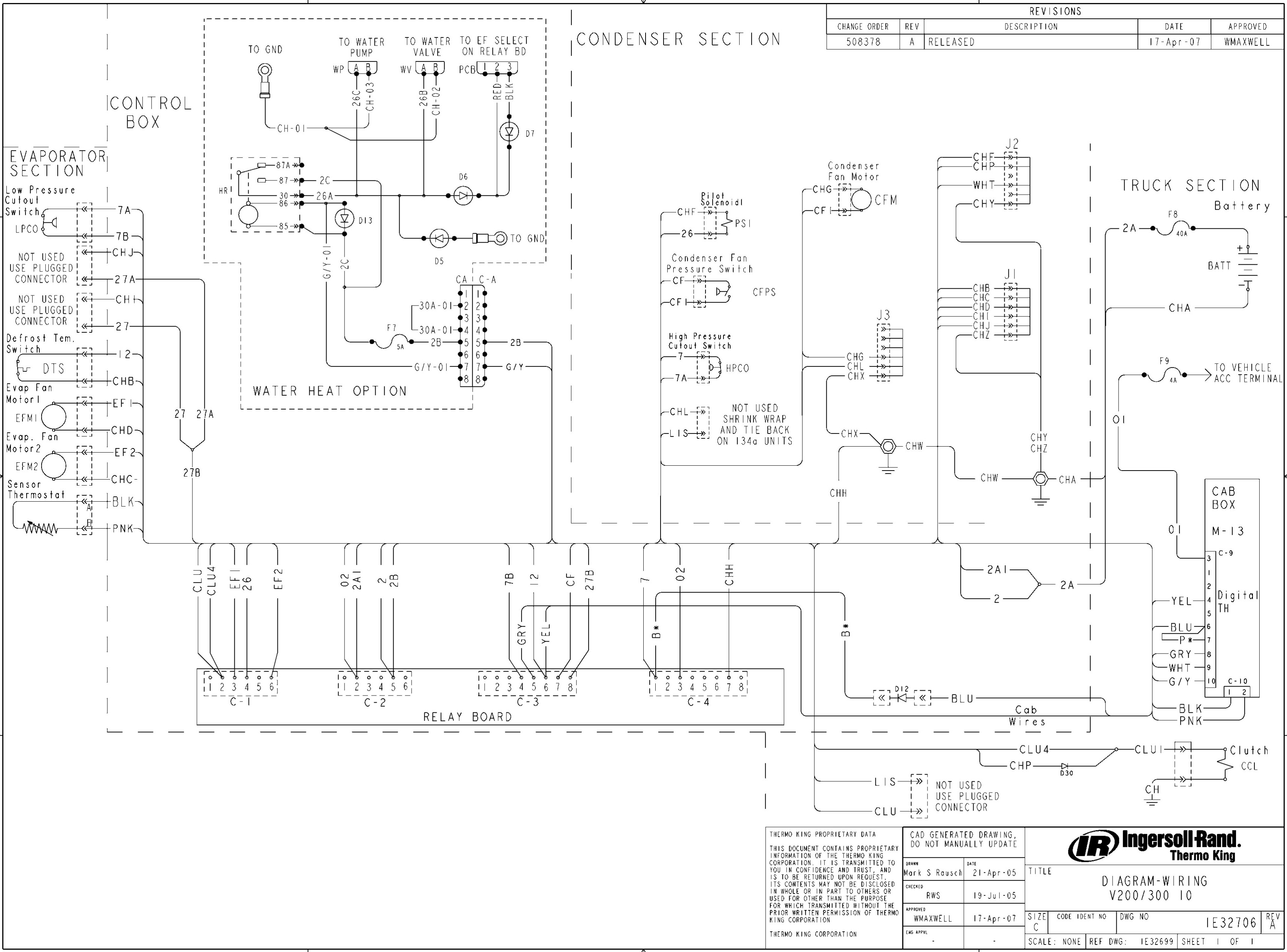 Thermo King V500 Max Wiring Diagram