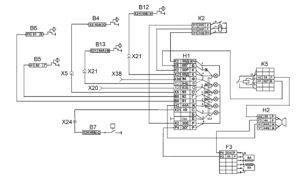Функциональная схема световой и звуковой сигнализации тормозной системыавтомобилей КамАЗ