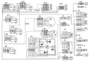 Функциональная схема внутреннего освещенияавтомобилей КамАЗ