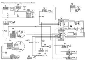 Функциональная схема контрольно-измерительных приборов автомобилей КамАЗ