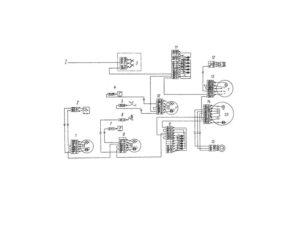 Электрическая схема системы контрольно-измерительных приборов автомобилей КамАЗ
