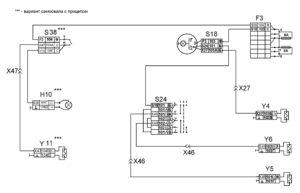 Функциональная схема подъёма и опускания платформыавтомобилей КамАЗ