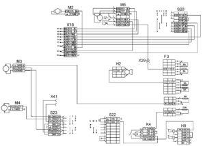 Функциональная схема стеклоочистки, отопления и звуковой сигнализацииавтомобилей КамАЗ