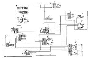 Электрическая схема электроснабжения автомобилей КамАЗ