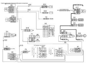 Функциональная схема пуска двигателяавтомобилей КамАЗ