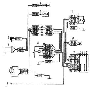 Электрическая схема системы предпускового подогревателя автомобилей КамАЗ