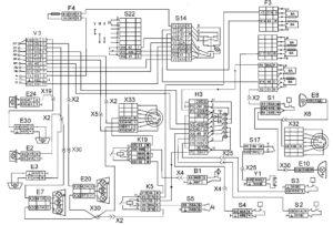 Функциональная схема наружной световой сигнализации и блокировки колёсавтомобилей КамАЗ