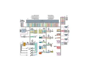 Схема электрических соединений жгута проводов системы зажигания 21144 - 3724026-00 (Лада Самара).