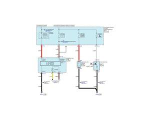 Электрическая принципиальная схема часов, прикуривателя и электрической розетки автомобиля Kia Rio