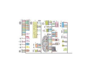Схема электрических соединений жгута проводов панели приборов 11170 - 3724030-00 (Лада Калина 8-ми клапанная).