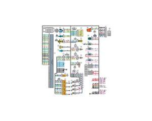 Схема электрических соединений жгута проводов системы зажигания 21703 - 3724026-00 (Лада Приора).