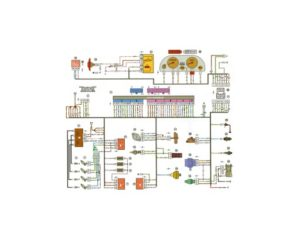 Схема электрических соединений ЭСУД Россия-83 Январь 4 ВАЗ-21102 с двигателем 2111.