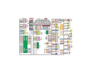 Схема электрических соединений жгута проводов панели приборов 21154 - 3724030-10 (Лада Самара).