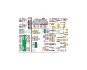 Схема электрических соединений жгута проводов панели приборов 21154 - 3724030-00 (Лада Самара).