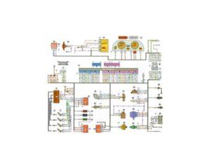 Схема электрических соединений ЭСУД ЕВРО-2 GM ВАЗ-21102 с двигателем 2111.