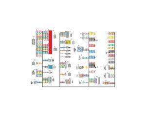 Схема электрических соединений жгута проводов заднего 21723 - 3724210-00 (Лада Приора).
