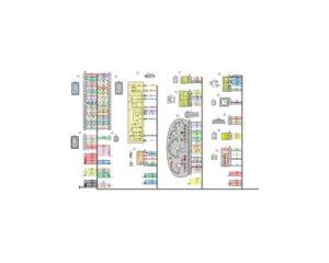 Схема электрических соединений жгута проводов панели приборов 21703 - 3724030-00 (Лада Приора).