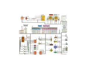 Схема электрических соединений ЭСУД Россия-83 GM, Январь 4 ВАЗ-21103 с двигателем 2112.