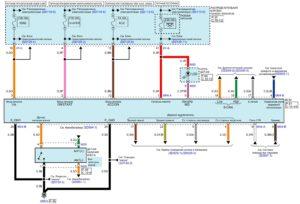 Электрическая принципиальная схема системы модуля управления электрооборудованием кузова (BCM) автомобиля Kia Rio