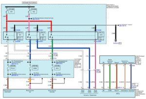 Электрическая принципиальная схема системы электронного ключа автомобиля Kia Rio