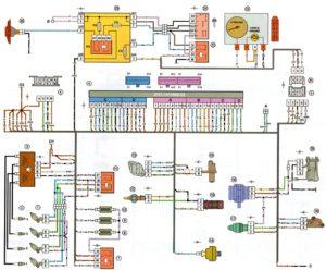 Схема электрических соединений ЭСУД Россия-83 Январь4 ВАЗ-21083, 21093, 21099 с двигателем 2111.