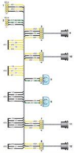 Схема соединений жгута проводов заднего бампера Kia Rio