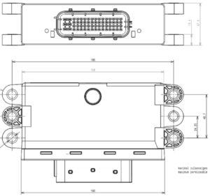 Схема электрическая принципиальная системы отработавших газов КамАЗ 5490.