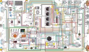 Схема электрическая принципиальная УАЗ–3153.