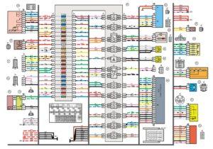 Схема электрических соединений жгута проводов панели приборов Лада Гранта