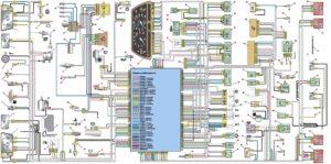 Схема электрооборудования автомобиля ВАЗ-2115-01.