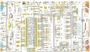 Схема электрооборудования автомобилей ВАЗ-2115.