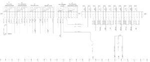 Схема электрическая принципиальная подключения предохранителей и реле КамАЗ 5490.