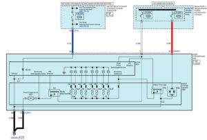 Электрическая принципиальная схема антиблокировочной системы тормозов (ABS) автомобиля Kia Rio