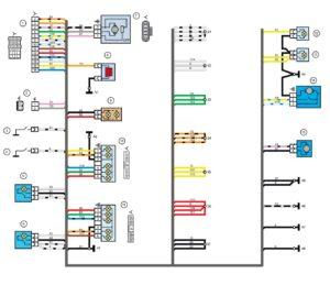 Схема электрических соединений жгута проводов заднего 21214 - 3724210-44 (Нива, Лада 4х4).