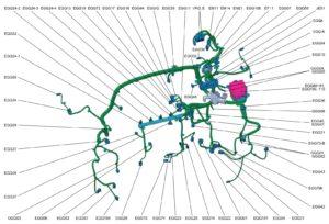 Передний жгут проводов автомобиля Kia Rio