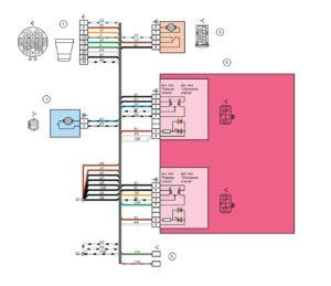 Схема электрических соединений жгута проводов передней левой двери Лада Гранта