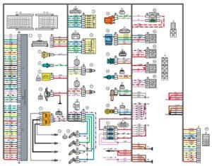 Схема электрических соединений жгута проводов системы зажигания 11180 - 3724026-40 (Лада Калина 8-ми клапанная).