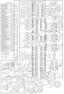 Электрическая принципиальная схема электронного блока управления (ЭБУ)VS5.1.