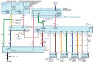 Электрическая принципиальная схема электронной системы стабилизации (ESP) автомобиля Kia Rio