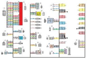 Схема электрических соединений жгута проводов заднего 21713 - 3724210-00 (Лада Приора).