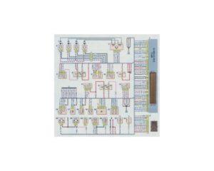 Схема электрических соединений системы управления двигателем автомобиля выпуска до 2009 г Шевроле Нива.