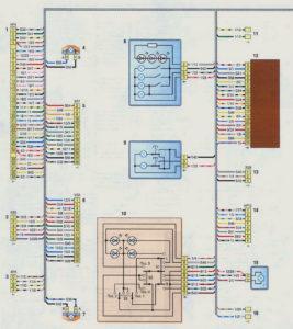 Схема соединений заднего жгута проводов (с 2009 г.) Шевроле Нива.
