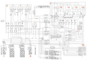 Электрическая схема наружного освещения УРАЛ Next.