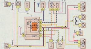 Схема включения наружного освещения (до 2009 г.) Шевроле Нива.