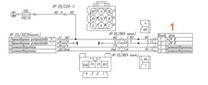 Электрическая схема переговорного устройства УРАЛ Next.