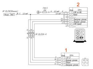 Электрическая схема предпускового подогревателя/догревателя системы отопления УРАЛ Next.
