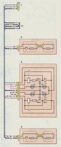Схема соединений жгута проводов обогрева сидений (с 2009 г.) Шевроле Нива.